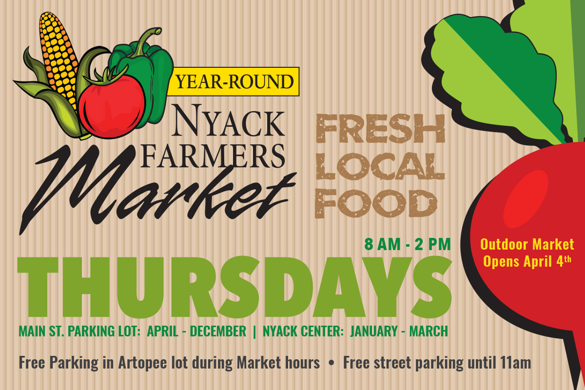 Nyack Farmers Market – Outdoors until December 19 – Nyack